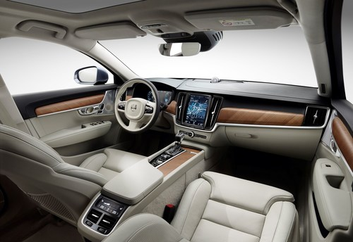 Finest-quality seat cover materials, comfortable upholstery and top-quality workmanship - the Volvo S90 seat concept, a close collaboration between Volvo and Johnson Controls, guarantees luxury and comfort. (PRNewsFoto/Johnson Controls)