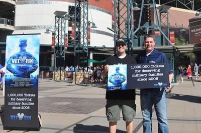 Army veteran Jason Ohanian receives Veterans Tickets Foundations Millionth Ticket