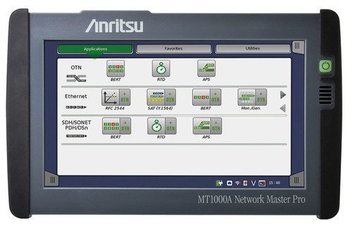 Anritsu redefines field transport testing with introduction of the MT1000A Network Master Pro. (PRNewsFoto/Anritsu Company)