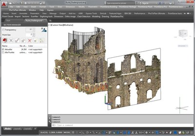 PointSense Heritage 17.5 improved creation of image plans