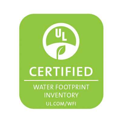UL Water Footprint Inventory Certification Mark for illustrative purposes only.  (PRNewsFoto/LG Electronics USA, Inc.)