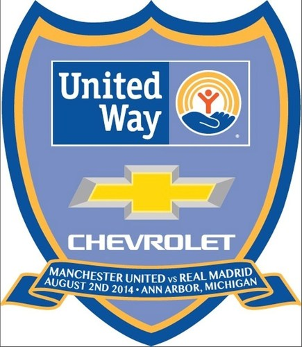 This commemorative badge will appear on the match shirts during the Aug. 2 game between Manchester United and ...