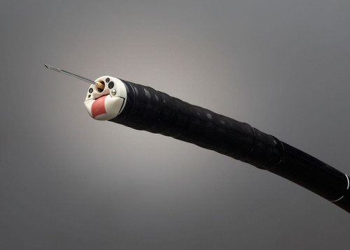 Olympus' world's only forward-viewing curvilinear ultrasound gastrovideoscope provides new ...