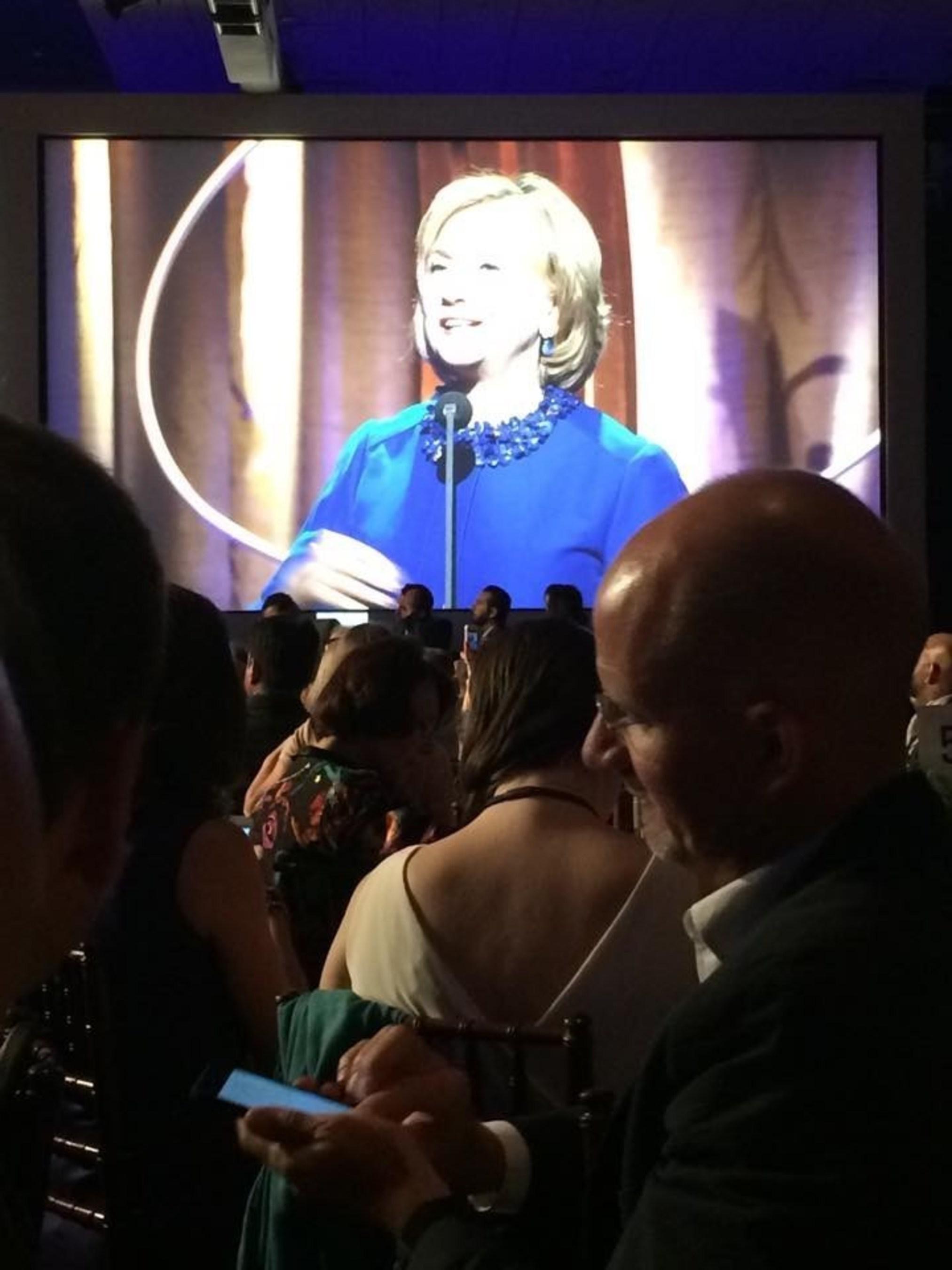 Arthur Wylie ( entrepreneur, film producer, philanthropist) and Hillary Clinton