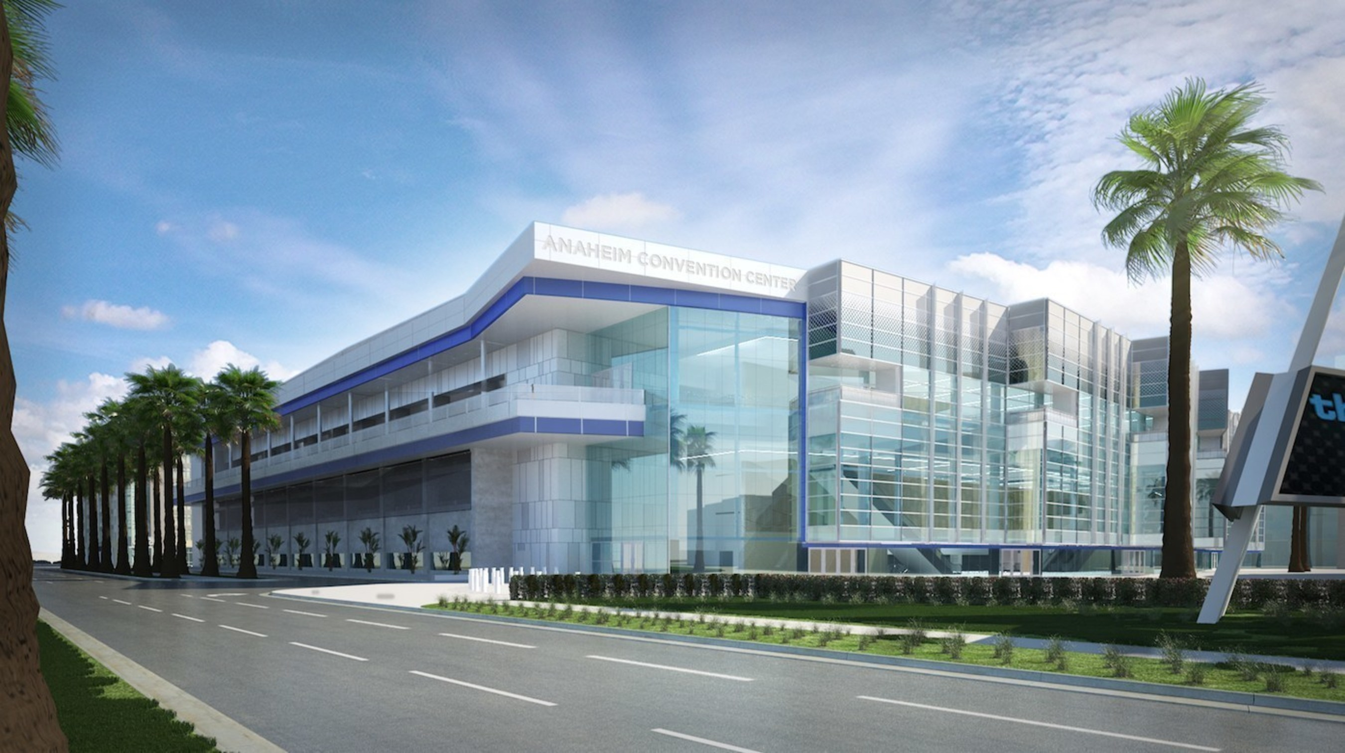 Rendering of Anaheim Convention Center Expansion, the project is set for completion in 2017. (Credit: Anaheim/Orange County Visitor & Convention Bureau)