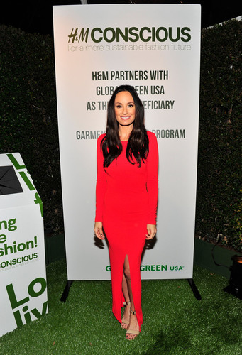 Catt Sadler wears H&M at Global Green USA's 10th annual Pre-Oscar party.  (PRNewsFoto/H&M)