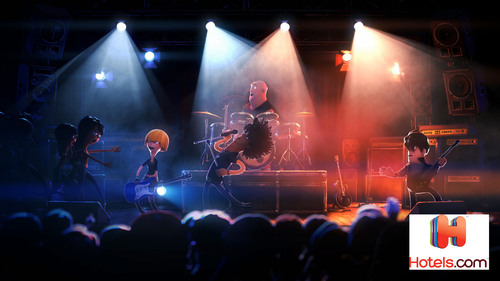 The new broadcast creative from Hotels.com, Travelin' Band, follows a fictitious band on the road that ...