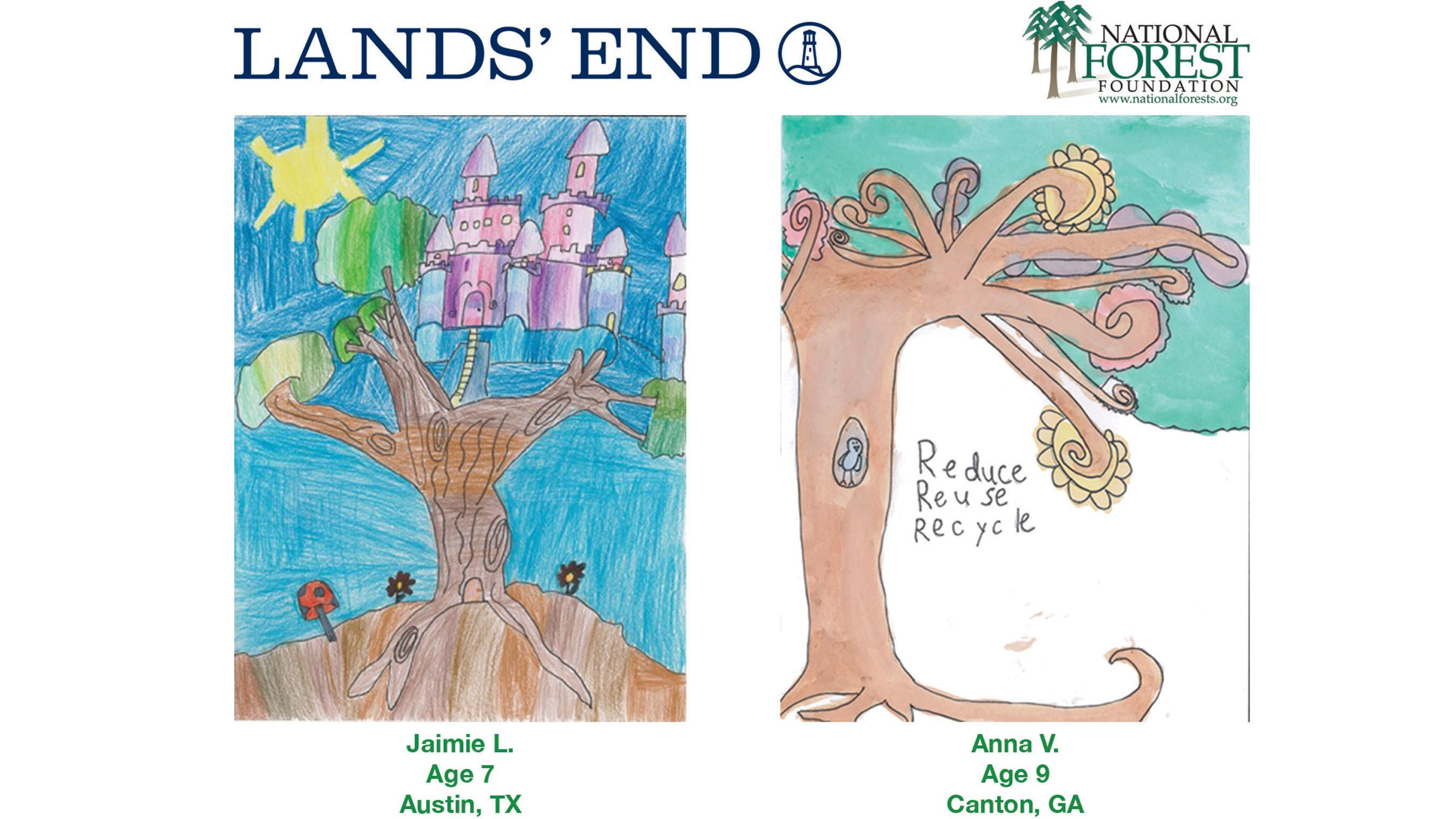 Lands' End Kids' Art Contest Winners.  (PRNewsFoto/Lands' End)