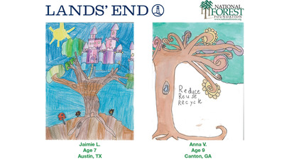 Lands' End Kids' Art Contest Winners.  (PRNewsFoto/Lands' End)
