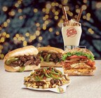 'Tis the season at Johnny Rockets for Comfort & Joy. Fan favorites and something new just in time for the holidays.  Philly Cheesesteak Sandwich, Chipotle Chicken Sandwich, Philly Cheesesteak Loaded Street Fries and Salted Caramel Shake, available for a limited time at participating restaurants.