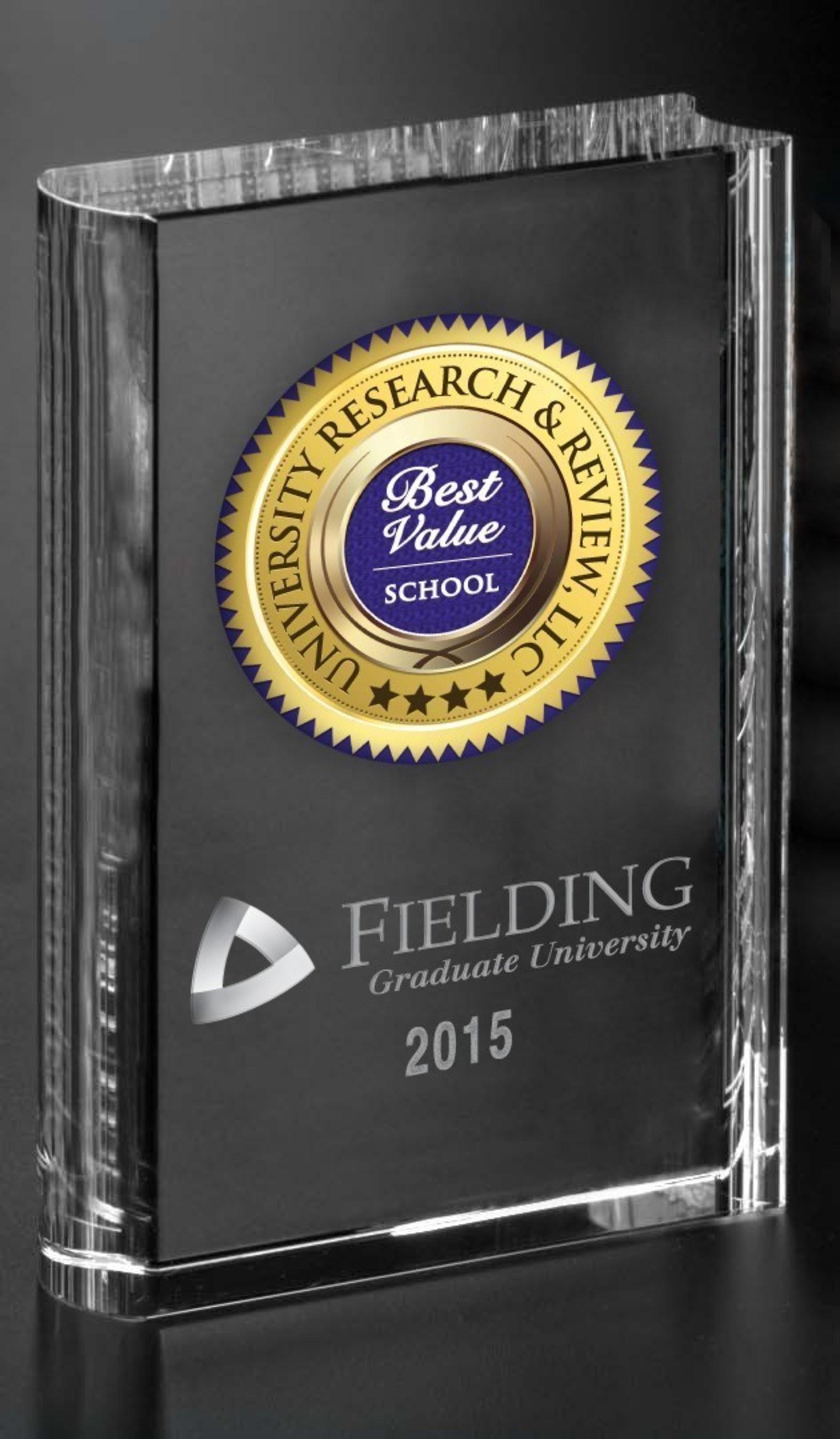 Fielding Graduate University Selected as a 2015 Best Value School Award Recipient