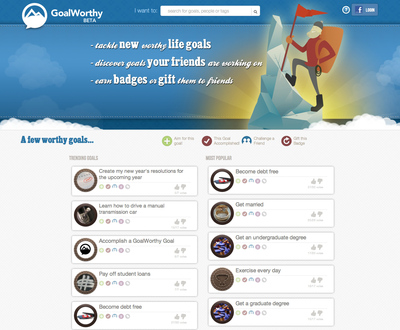 GoalWorthy is playable at www.GoalWorthy.com, with iPhone and Android apps available as well.  (PRNewsFoto/CrossComm, Inc.)