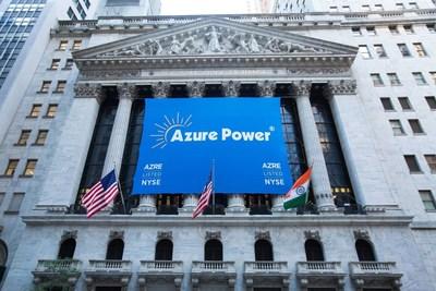 Azure Power Listed on NYSE (PRNewsFoto/Azure Power India Pvt Ltd)