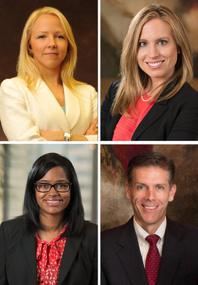 """Godwin Bowman & Martinez PC, is pleased to announce the promotion of Elisaveta """"Leiza"""" Dolghih (top left) and Laci Bowman to Shareholders; and Stefanie Major McGregor (bottom left) to Senior Counsel. Shareholder Shawn McCaskill has been named Senior Vice President and Secretary of the Firm's Executive Committee."""
