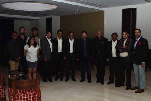 Amrut Single Malt Begins 10-year Celebrations With Vir Sanghvi (fifth from right) and friends (PRNewsFoto/Amrut Distilleries Ltd)