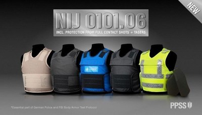 Latest Bullet Resistant Vest Also Protects From Full Contact Shots And TASER (PRNewsFoto/PPSS Group)