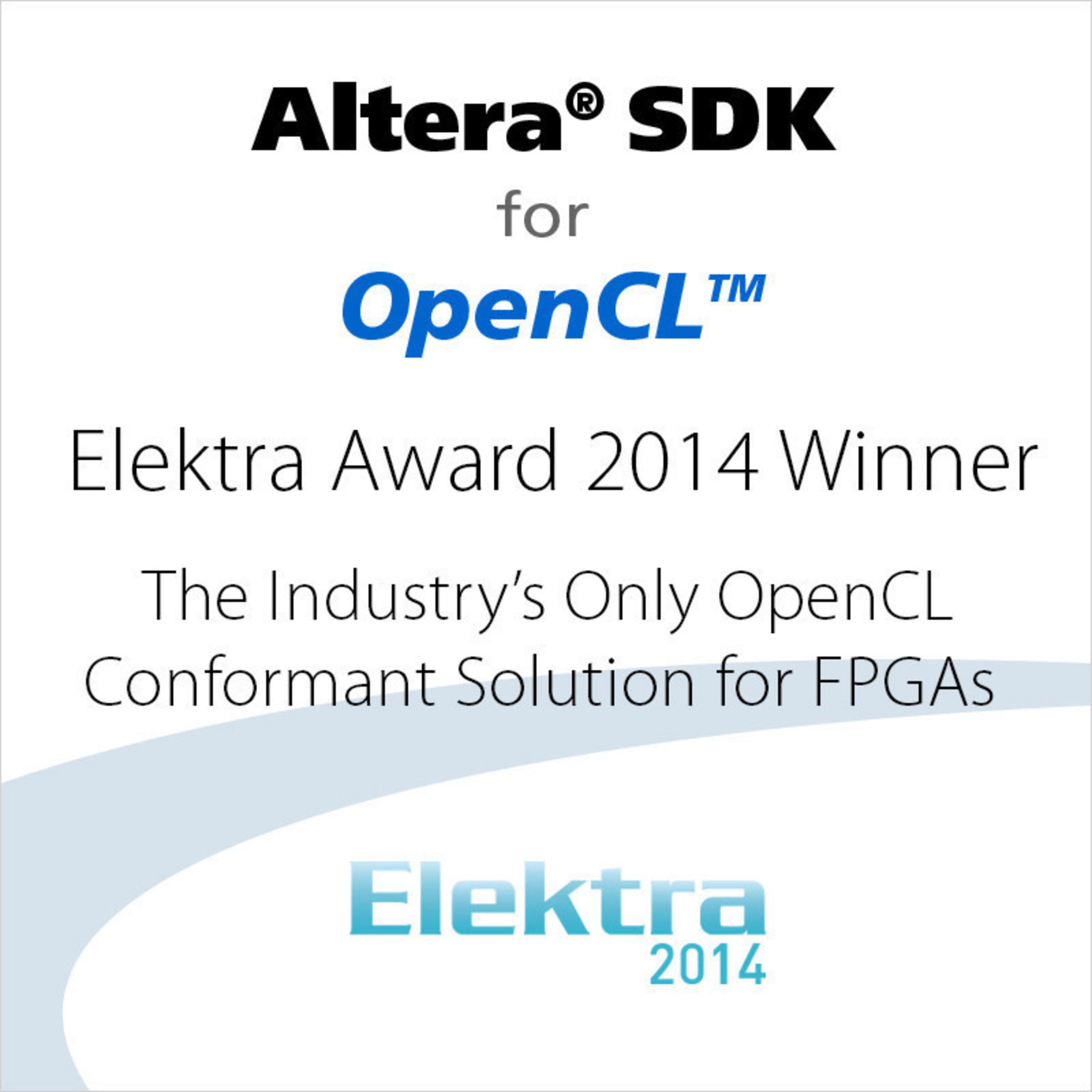 Elektra Award 2014 Winner