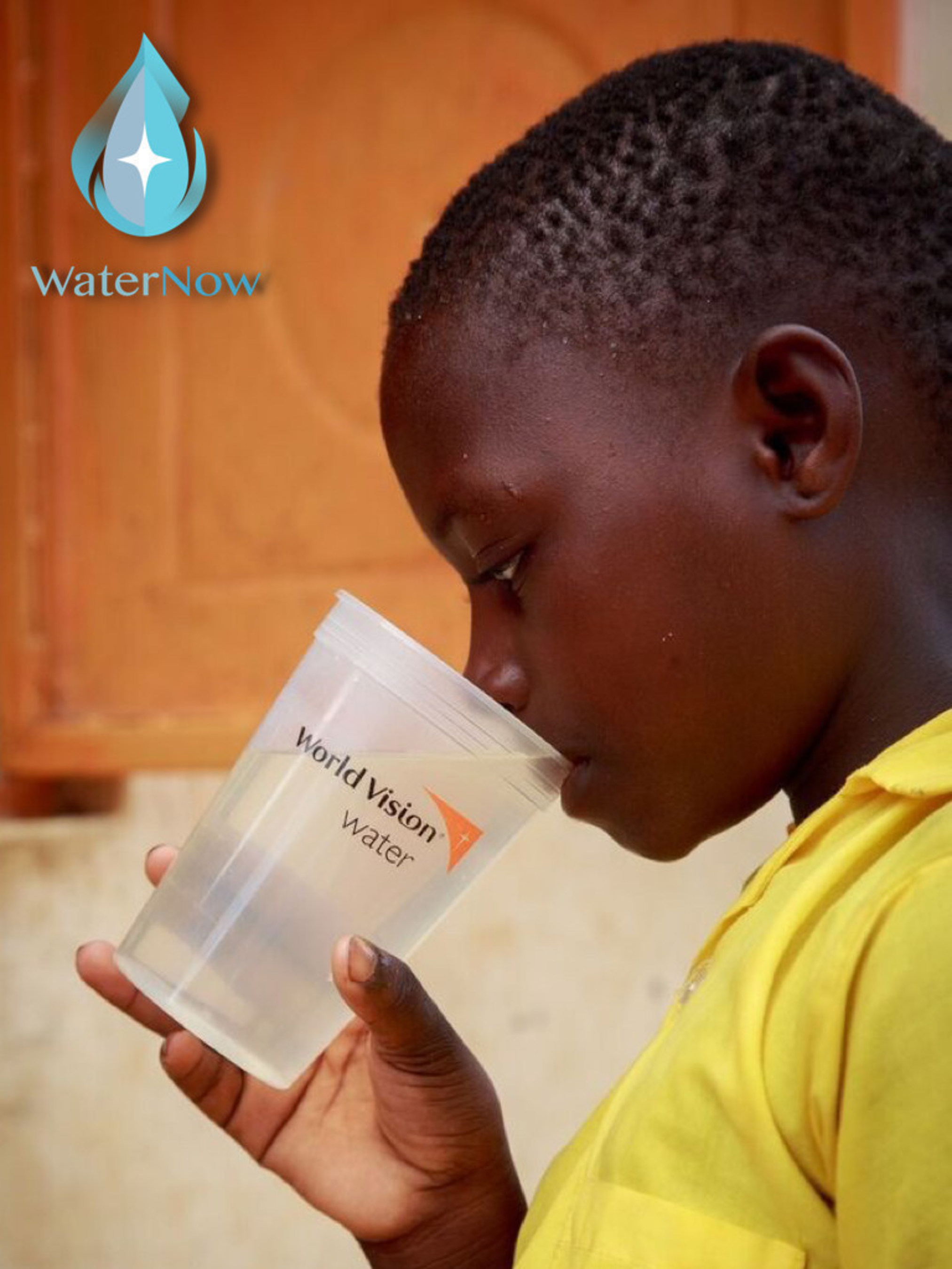 Water Now provides a child in Kenya with clean water on UN World Water Day via World Vision Water