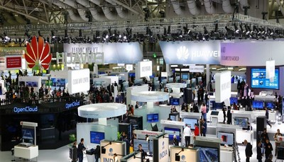 Huawei booth at CeBIT 2016
