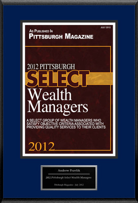 "Andrew Pravlik Selected For ""2012 Pittsburgh Select Wealth Managers"".  (PRNewsFoto/American Registry)"