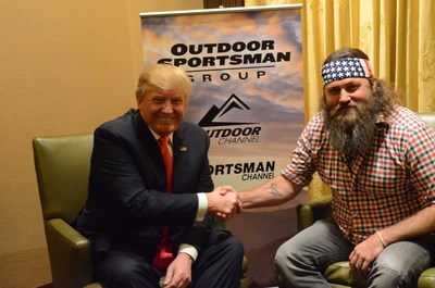 WILLIE ROBERTSON ENDORSES DONALD TRUMP...Duck Dynasty star Willie Robertson is seen endorsing GOP presidential frontrunner Donald J. Trump at the 16th Annual Outdoor Channel and Sportsman Channel sponsored Outdoor Sportsman Awards in Las Vegas on Thursday evening. Robertson's support of Trump's presidential bid during the Outdoor Channel and Sportsman Channel ceremony comes on the heels of the endorsement from former Alaska Governor and Sportsman Channel host Sarah Palin.  Outdoor Channel recently...