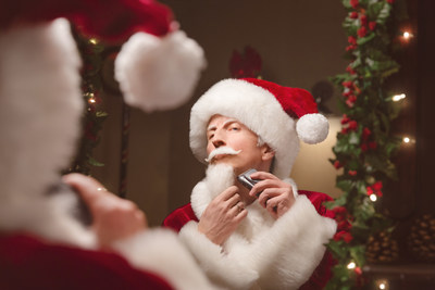 Seen here using the cruZer6 beard&head, perfect for a seasonal restyle, Santa is not the only one feeling the pressure to look well-groomed this festive season
