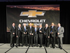 The award-winning Phillips Chevrolet team: (left to right) Product Specialist Philip Derkacy, General Sales Manager Brian McMahon, Service Specialist Paul Nelson, General Manager Michael Maheras, Phillips Chevrolet President Curtis Pascarella, Product Specialist Rami Alamawi, Product Specialist Steve Sorensen, Product Specialist Mark Peterson, General Sales Manager - Lansing Mark Catuara