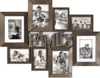 A Picture is Worth a Thousand Words of Thanks: Picture frames containing family photos are the way to Mom's heart. With collage photo frames, you don't have to narrow it down to just one priceless moment. Print and add a group of your favorites to make the frame ready to hang for instant enjoyment. This eight-photo family frame is $29.99.