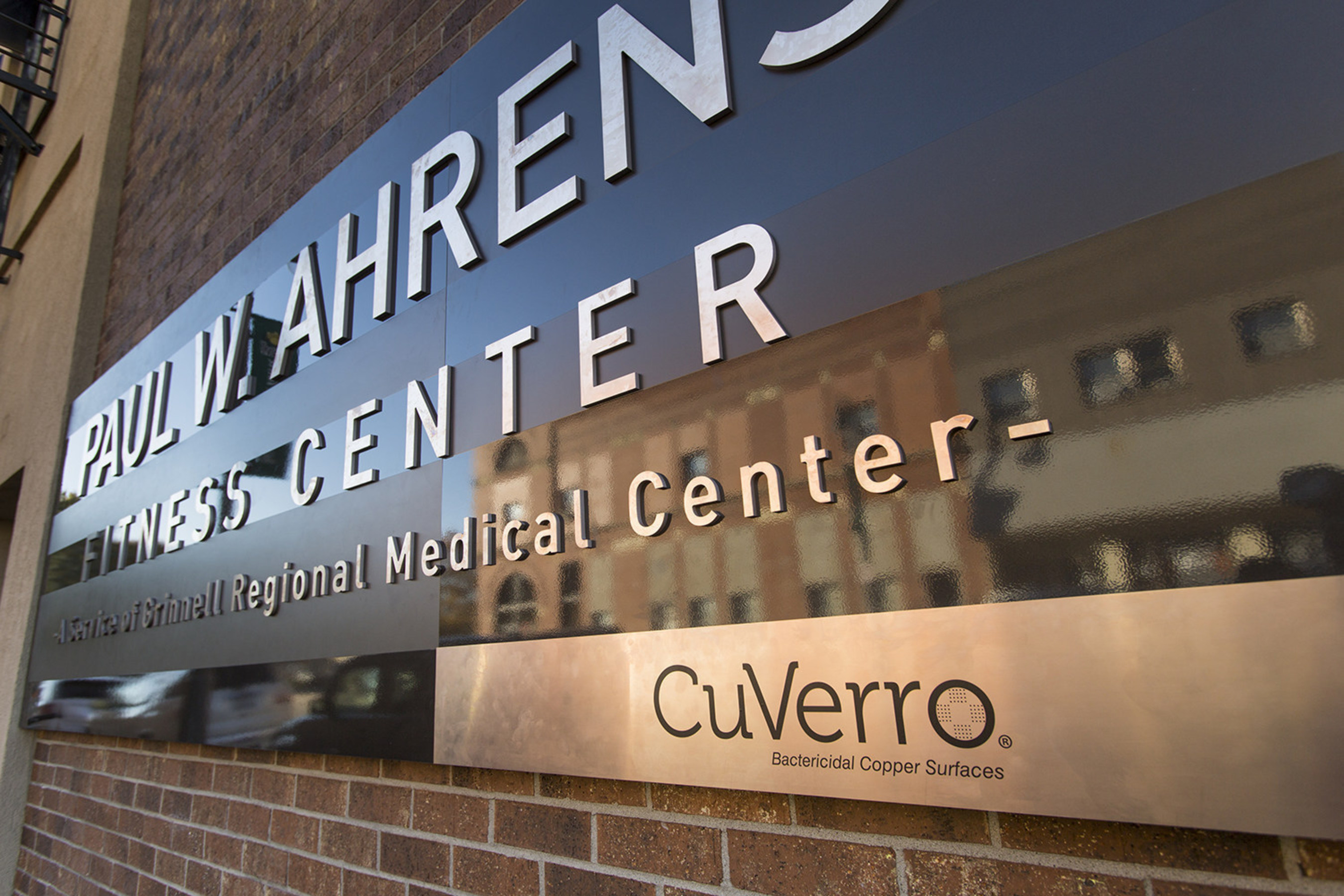 Paul W. Ahrens Fitness Center partners with CuVerro bactericidal fitness and facility products to create a ...