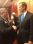 On Capitol Hill, Rob Smith, President of Americans Standing for the Simplification of the Estate Tax (ASSET), with Senator John Thune (R-ND).  (PRNewsFoto/Americans Standing for the Simplification of the Estate Tax (ASSET))