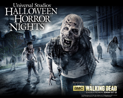 'Halloween Horror Nights' at Universal Studios Hollywood Extends Deeper Into Areas of Universal's Renowned Backlot, As Hordes of Zombies from AMC's Critically-Acclaimed Blockbuster TV Series 'The Walking Dead' Infiltrate World-Famous Production Sets for the First Time Ever.  (PRNewsFoto/Universal Studios Hollywood)