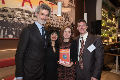 Barilla Center for Food & Nutrition Foundation (BCFN) hosted an exclusive dinner discussion at Barilla Restaurants - Herald Square in New York City on Monday, February 22, 2016, to launch the second edition of Eating Planet - Food and Sustainability: Building Our Future, a book exploring the global issues related to food, nutrition and agriculture. An esteemed panel of experts that led a discussion on these topics included (L-R) Guido Barilla, Chairman, BCFN Foundation and Chairman, Barilla Group...