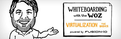 Fusion-io Chief Scientist Steve Wozniak simplifies the complexity of virtualization in a new animated whiteboard video.  (PRNewsFoto/Fusion-io)