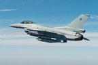 The newest Royal Oman Air Force F-16, built by Lockheed Martin, during pre-acceptance flight tests. The Royal Oman Air Force accepted the F-16 during a ceremony April 3.  (PRNewsFoto/Lockheed Martin Aeronautics Company)