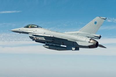 The newest Royal Oman Air Force F-16, built by Lockheed Martin, during pre-acceptance flight tests. The Royal Oman Air Force accepted the F-16 during a ceremony April 3. (PRNewsFoto/Lockheed Martin Aeronautics Company) (PRNewsFoto/LOCKHEED MARTIN AERONAUTICS ___)