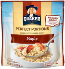 New Quaker Perfect Portions customizable oatmeal helps moms make breakfast a little more perfect.  (PRNewsFoto/The Quaker Oats Company)