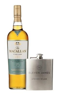Eleven James Aficionado Membership  + The Macallan 15yr & engraved flask