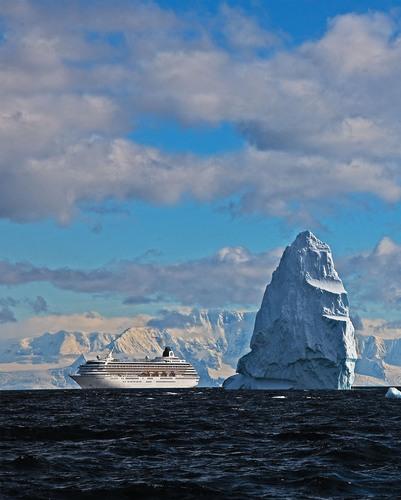 Crystal Symphony in Antarctica.  (PRNewsFoto/Crystal Cruises)