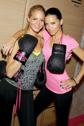 Victoria's Secret Angels Kick Off A Healthy And Fit New Year With Victoria's Secret Sport.  ...