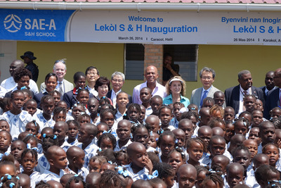Sae-A Foundation Inaugurates New School in Northern Haiti. (PRNewsFoto/Sae-A Trading Co., Ltd) (PRNewsFoto/SAE-A TRADING CO__ LTD)