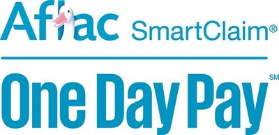 Pink Aflac One Day Pay Logo