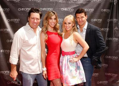 Aaron Ravo, Melissa Ravo, Jaime Boreanaz & David Boreanaz Chrome.  (PRNewsFoto/Chrome Girl)