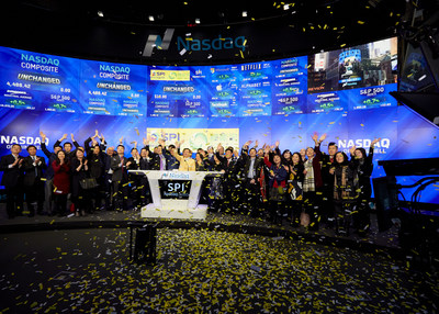 SPI Energy rings the Nasdaq Stock Market Opening Bell in celebration of its listing on the Nasdaq Global Select Market, January 19, 2016.