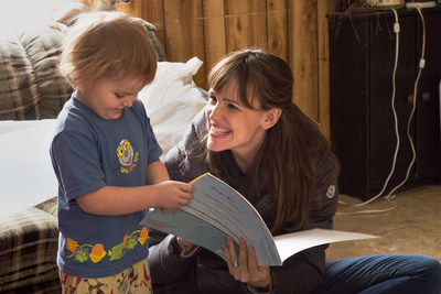 "Credit: Audrey Hall/Show of Force. Save the Children Artist Ambassador Jennifer Garner joins a home visit with Johnny, 3, in Mason County, West Virginia in the ""Breaking the Cycle of Poverty"" episode of the new PBS documentary series, A Path Appears."