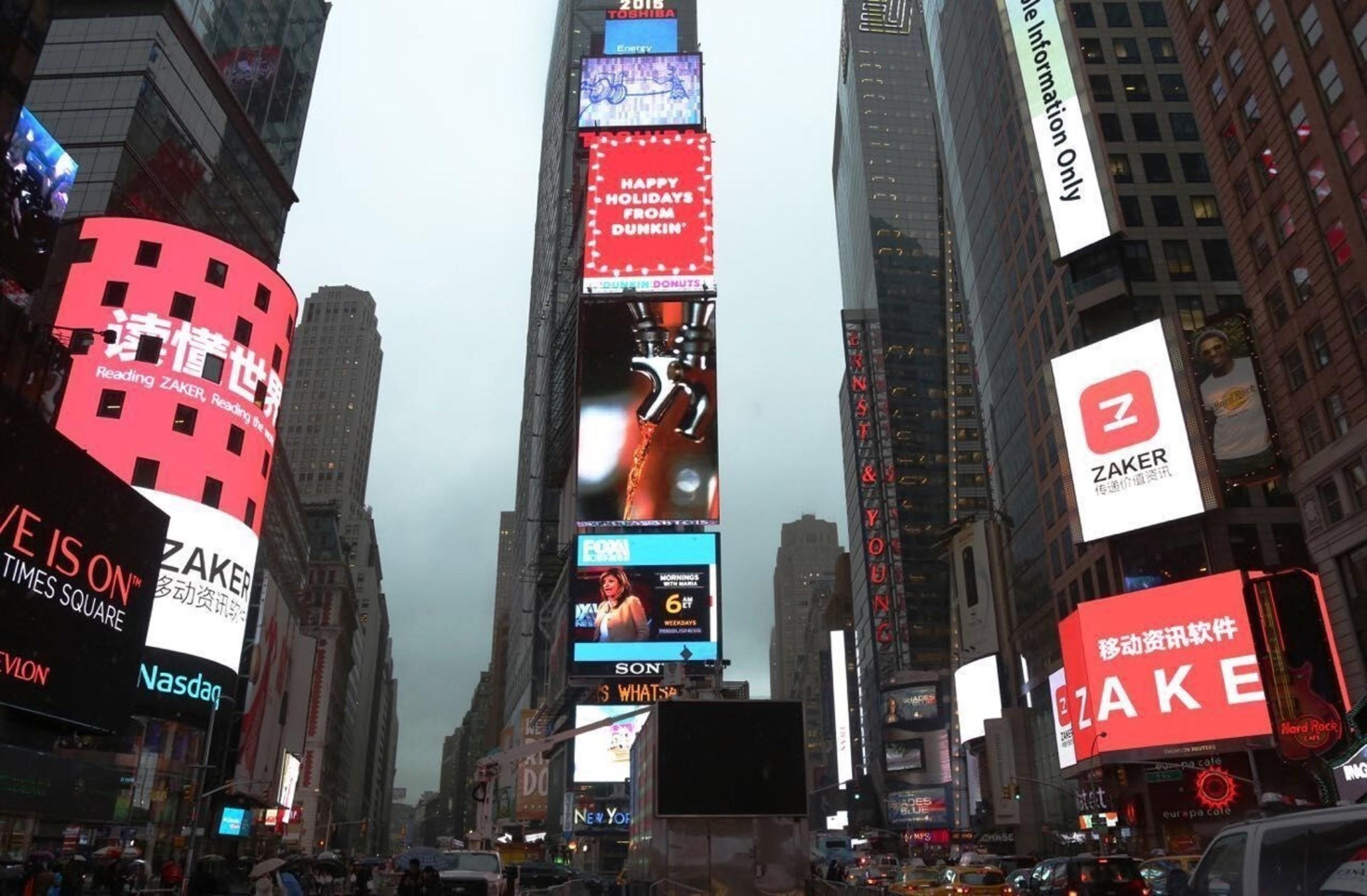 Massive ZAKER Ad Debuts in Times Square