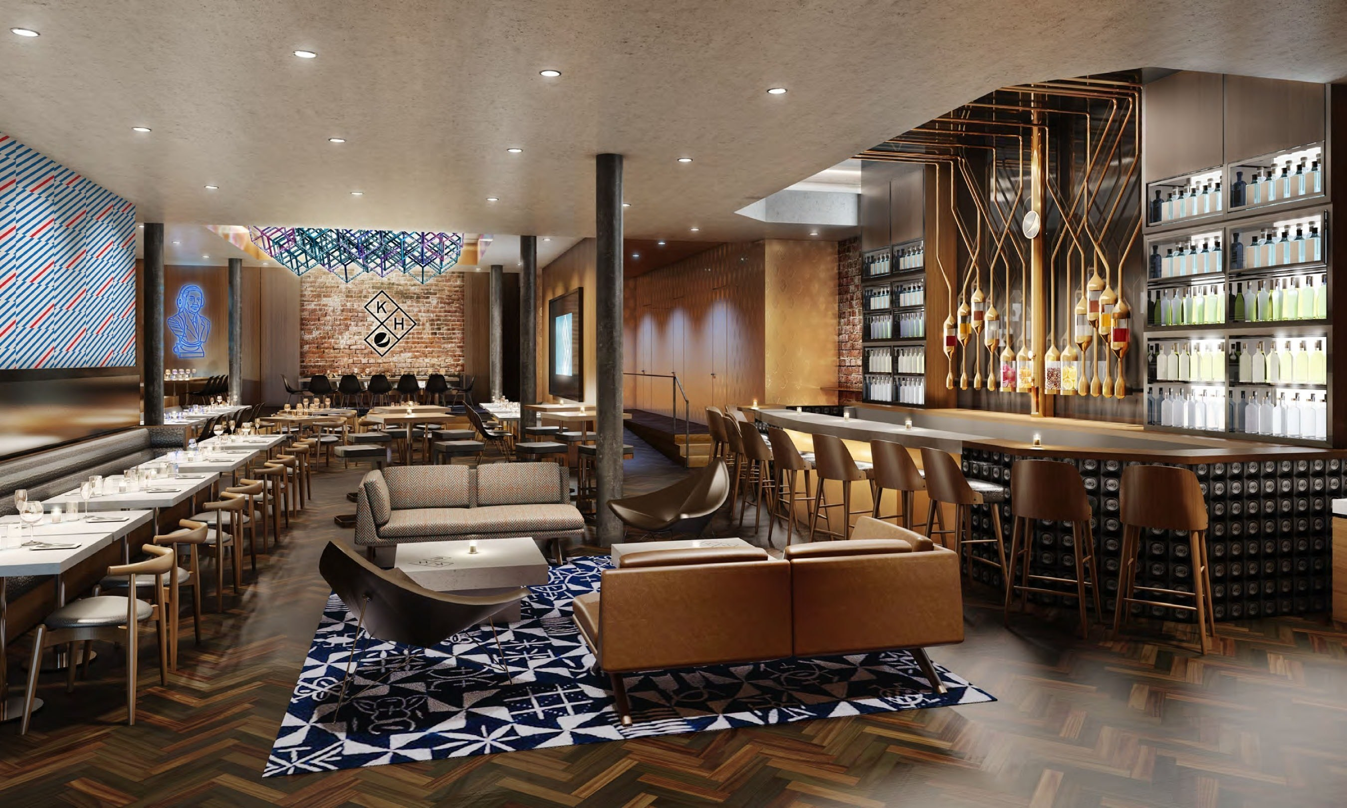 Rendering of Kola House space in New York City