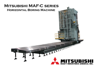 By attaching various cutting tools to the spindle (core), the machine enlarges a previously drilled hole and finishes it with precision.  (PRNewsFoto/Mitsubishi Heavy Industries America, Inc.)