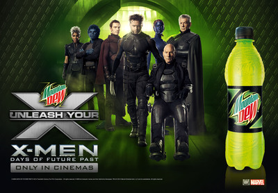 Mountain Dew(R) Joins X-MEN: Days of Future Past Universe With Official Partnership. (PRNewsFoto/PepsiCo) (PRNewsFoto/PEPSICO)