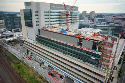 The Center for Advanced Cellular Therapeutics (CACT) will be built on Penn Medicine's Philadelphia campus, on this site atop the Perelman Center for Advanced Medicine, adjoining the cancer therapeutics floor in the Smilow Center for Translational Research. (PRNewsFoto/Penn Medicine)
