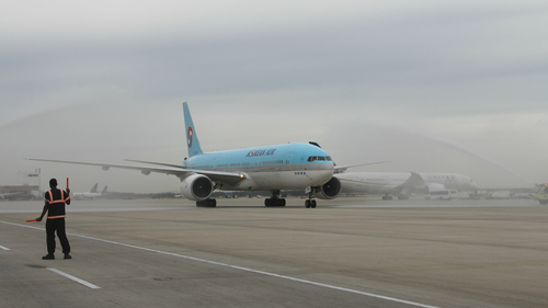 Korean Air Lands in Houston! (PRNewsFoto/Houston Airport System)